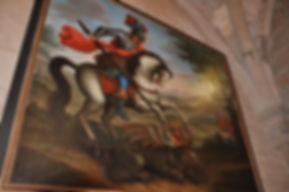 Tableau de Saint-Georges terrassant le Dragon