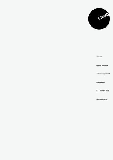 A RECORDS - BRIEFPAPIER