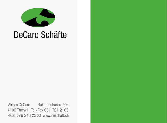 VISITENKARTE - DE CARO SCHÄFTE