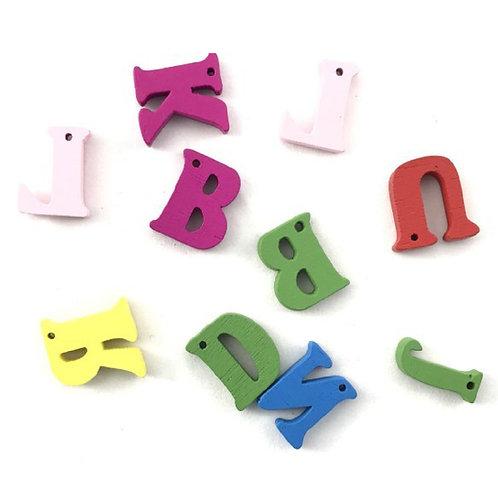 Bottoni legno lettere