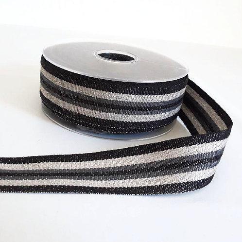 Striped ribbon with lurex