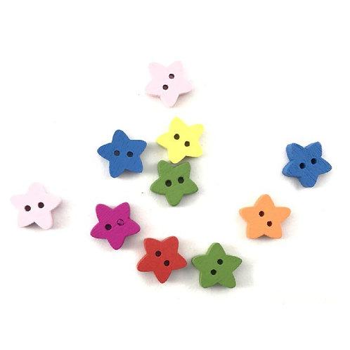 Bottoni legno stelle