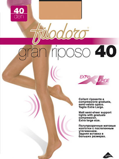 Collant gran riposo 40 den XL