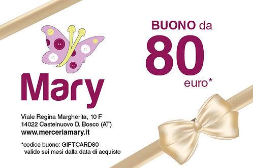 Gift Card 80 euro
