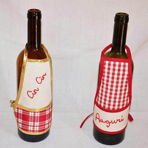 Copri bottiglia con auguri