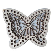 Base farfalla intagliata
