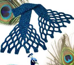 Schema scarf Pavone all'uncinetto
