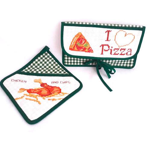 Kitchen set I love pizza