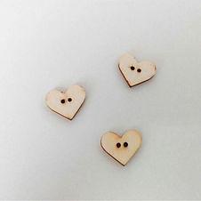 Bottini in legno - cuore