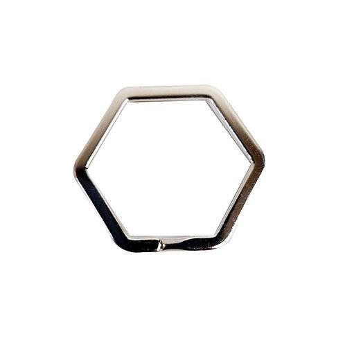 Anello esagonale per portachiavi