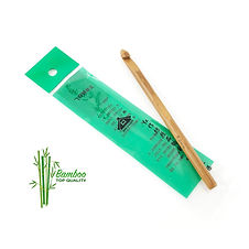 Uncinetti in bamboo naturale