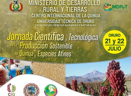 JORNADA CIENTIFICA Y TÉCNOLÓGICA DE PRODUCCIÓN SOSTENIBLE DE QUINUA Y ESPECIES AFINES