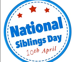 National Siblings Day Book Reading, April 10th at 10am on Zoom