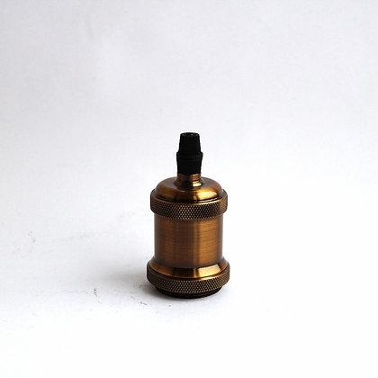 Патрон для абажуров бронзовый с прижимной гайкой