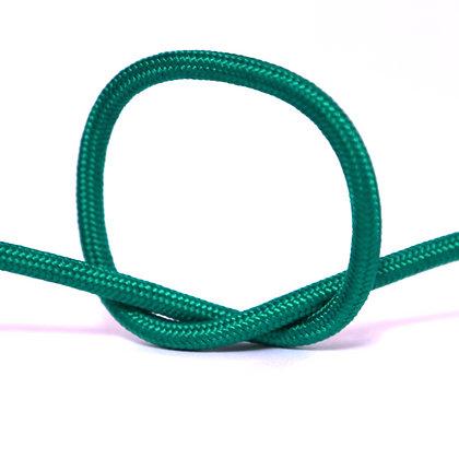 Провод в тканевой оплетке зеленый