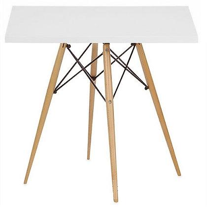 Стол Eames Wood квадратный белый 70*70 см
