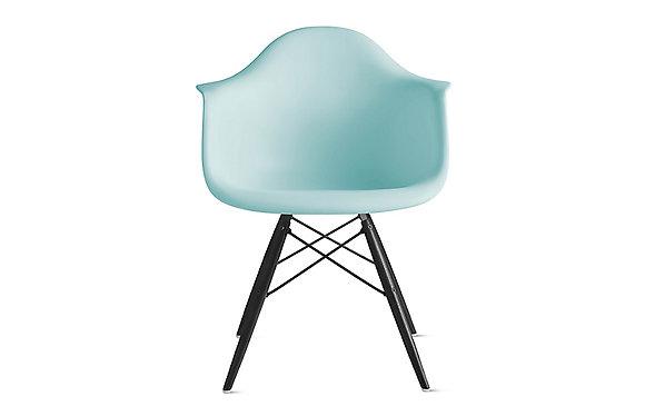 Стул Eames DAW голубой с черными ножками