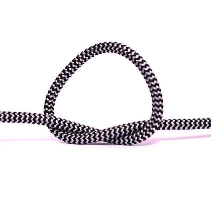 Провод в тканевой оплетке черно-белый