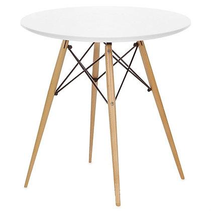 Стол Eames Wood круглый белый 100 см