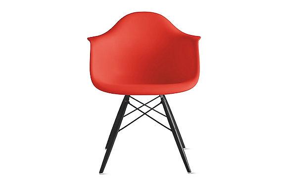 Стул Eames DAW красный с черными ножками