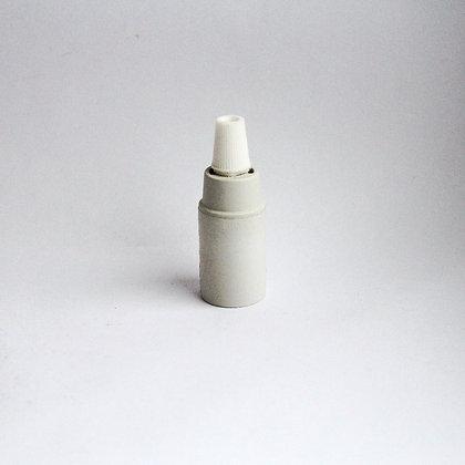 Карболитовый патрон белый матовый Е14 цоколь