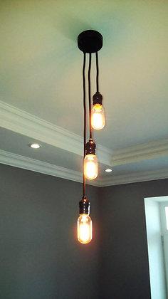 TOD25 Люстра(светильник лофт на 3-ри лампы черный)