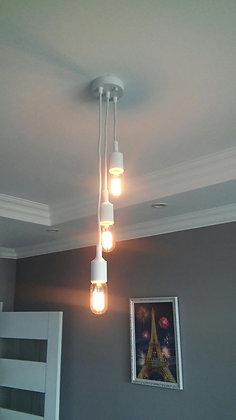 TOD26 Люстра(светильник лофт на 3-ри лампы белый)