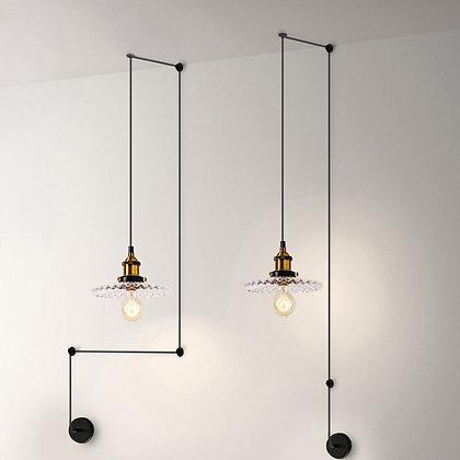 TOD3 светильник LOFT с черным абажуром и крепежами