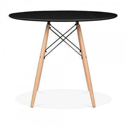 Стол Eames Wood круглый черный 60 см
