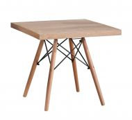 Стол Eames Wood квадратный белый 80*80 см