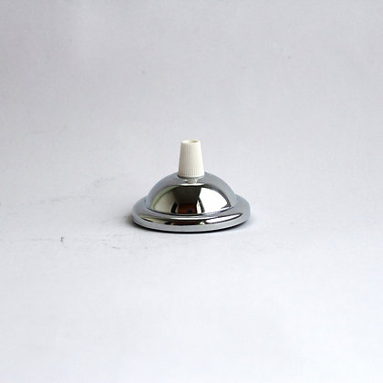 Потолочный крепеж диаметром 6,5 см хромированный