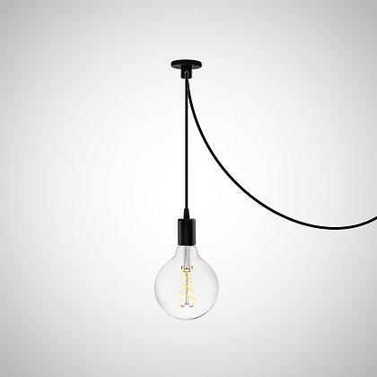 TOD9 светильник LOFT с крепежем провода (черный)
