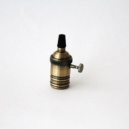 Патрон латунный с выключателем бронзовый