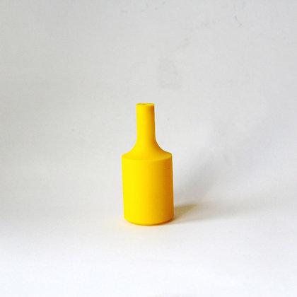 Патрон с силиконовой накладкой желтый