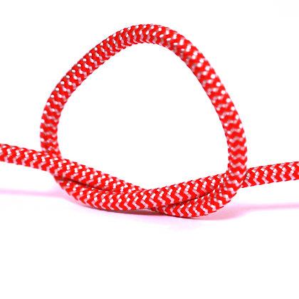 Провод в тканевой оплетке красно-белый