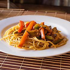 Spaguetis con verduras