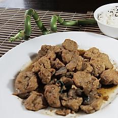 Carne de soja y champignon