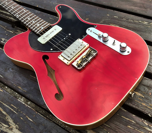 Dakota Red Translucent Semi-hollow T-Type