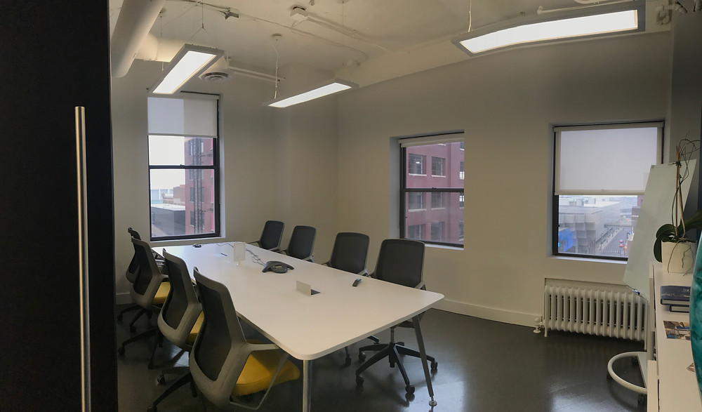 One of the conference rooms at SpaceLab Detroit