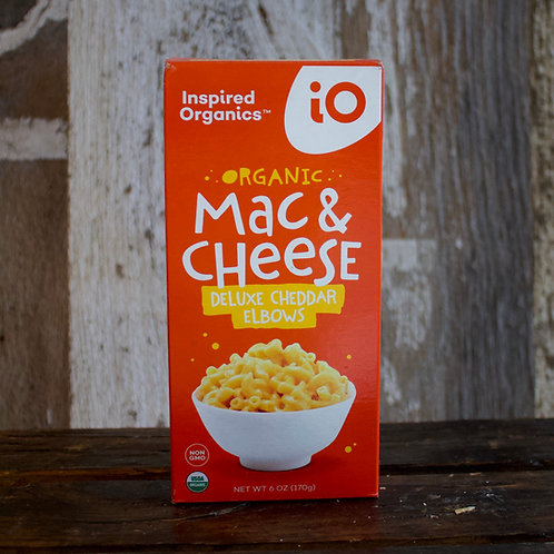 Deluxe Cheddar Mac & Cheese, Inspired Organics, 6 oz.