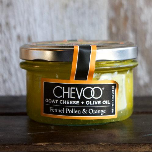 Chevoo, Fennel Pollen and Orange Marinated Goat Cheese, 4oz