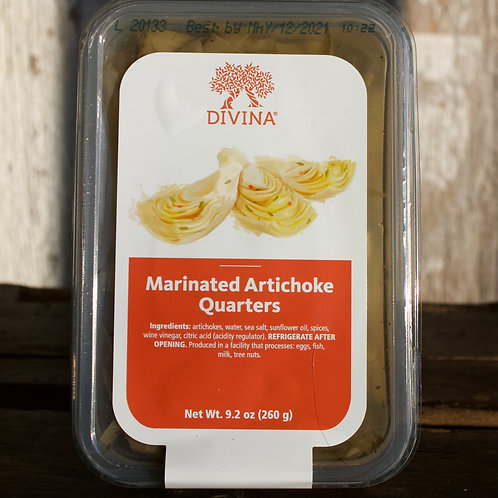 Marinated Artichoke Quarters, Divina, 9.2oz