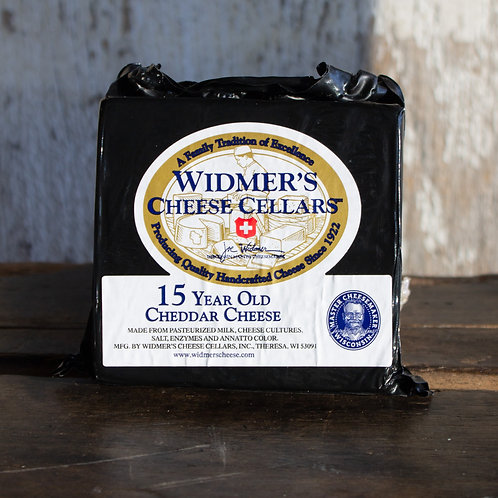 15 Year Aged Cheddar Cheese, Widmer's Cheese Cellars, 6-8oz