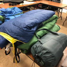 Different view of sleeping bags