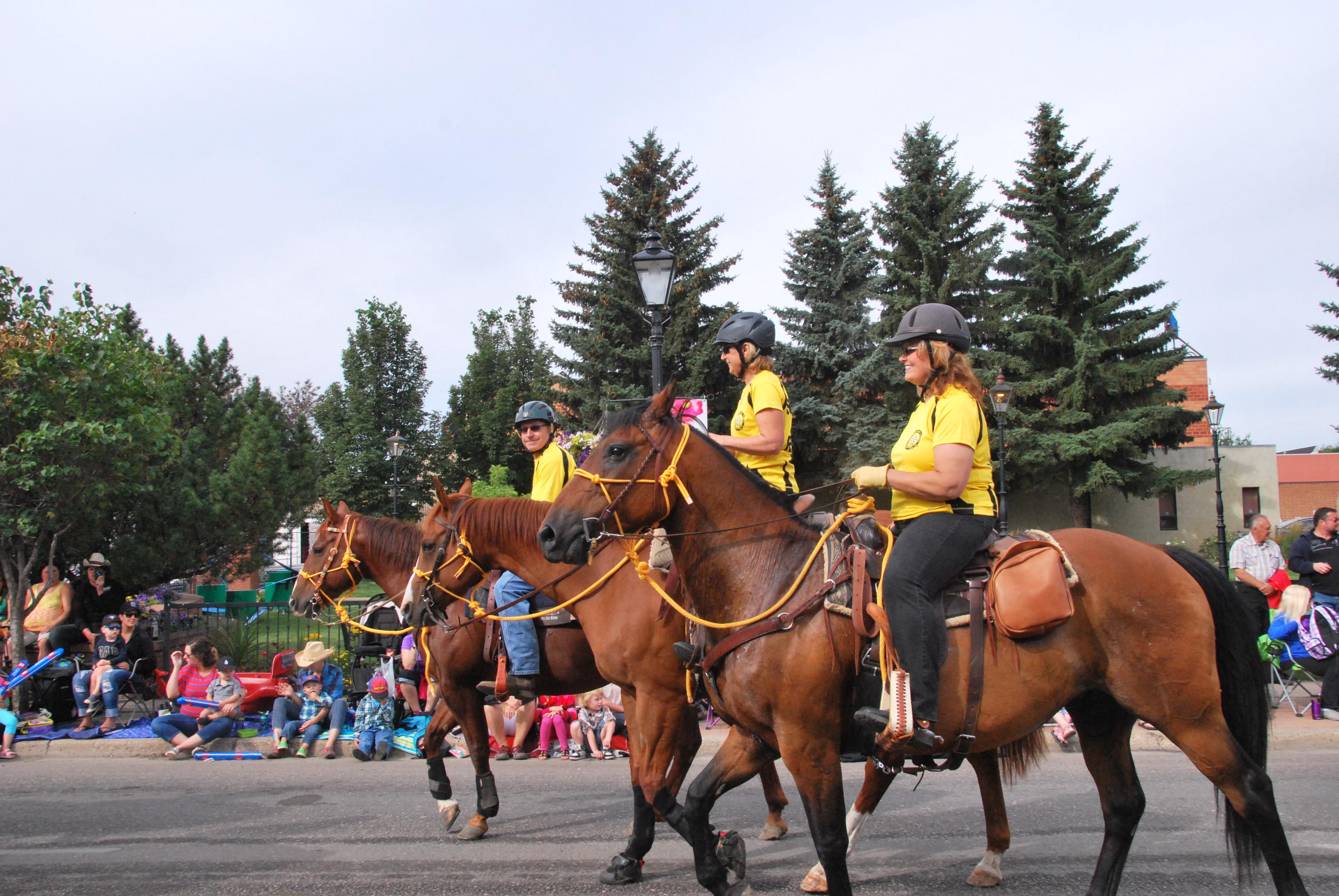 SAR at Stampede 2015- three riders