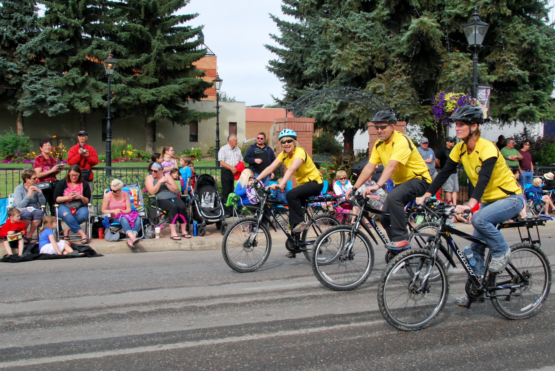 SAR at Stampede 2015 - three cyclists