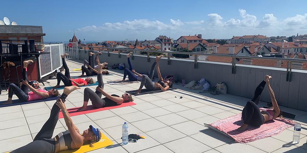 Pilates Flow terrasse du Radisson Biarritz