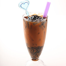 [146] Ice Tea with Grass Jelly