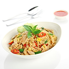 Green Curry Chicken Fried Rice