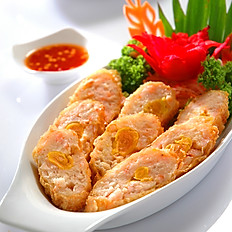 [47] Thai Style Salted Egg Chicken Sausage (8 Pieces)